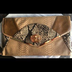 Beige Tan ExoticPrint Bag
